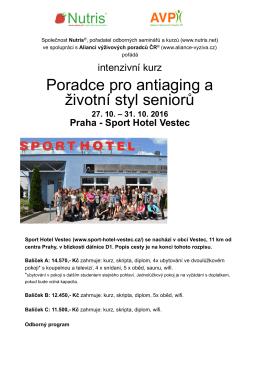 Pardce pro antiaging a životní styl seni... Praha- Sport Hotel