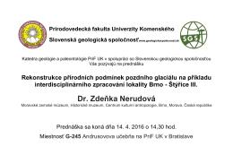 Dr. Zdeňka Nerudová