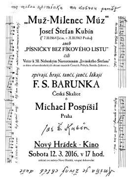 Kubín-Milenec Múz-25.2.2016_N.Hrádek_Plakát