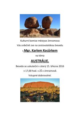 austrálie. - Jimramov