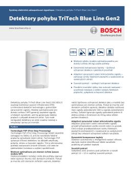 Detektory pohybu TriTech Blue Line Gen2