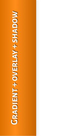 Gradient + overlay + sh adow Gradient + overlay +