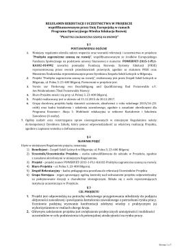 Regulamin - Zespół Szkół Leśnych w Biłgoraju