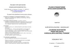 Więcej - Polskie Stowarzyszenie Mykologów Budownictwa
