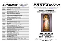 Tutaj można zobaczyć program - Polska Misja Katolicka w Mannheim