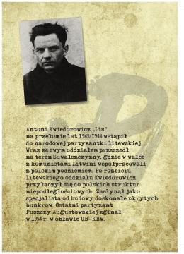 """Antoni Kwiedorowicz """" Lis"""" na przełomie lat 1943/1944 wstąpił do"""