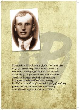 """Stanisław Marchewka """" Ryba"""" w trakcie wojny obronnej 1939 r"""