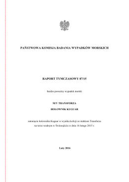 Raport - Serwis Państwowych Komisji Badania Wypadków