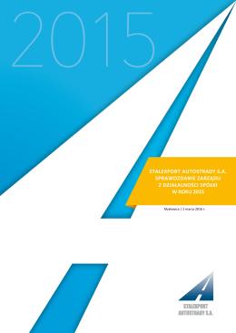 stalexport autostrady sa sprawozdanie zarządu z