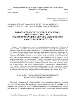 Full Text - Instytut Maszyn, Napędów i Pomiarów Elektrycznych