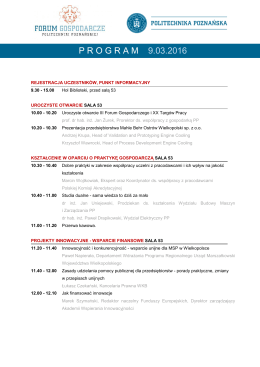 Program_ III Forum_Gospodarcze PP