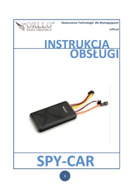Instrukcja lokalizatora ORLLO SPY-CAR
