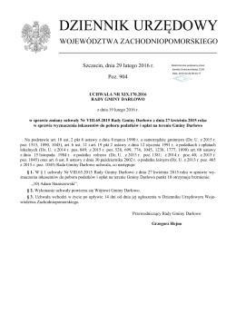 PDF ogłoszony - Dziennik Urzędowy Województwa