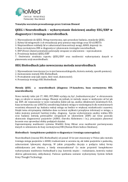 QEEG i Neurofeedback – wykorzystanie ilościowej analizy EEG