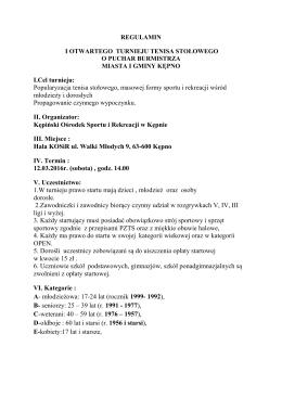 Regulamin - Kępiński Ośrodek Sportu i Rekreacji