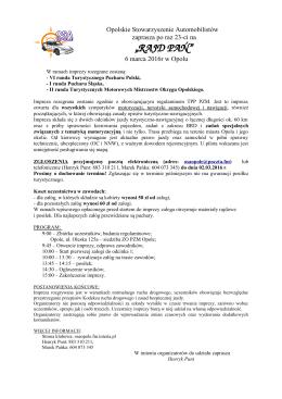 RAJD PAŃ - PZM Opole