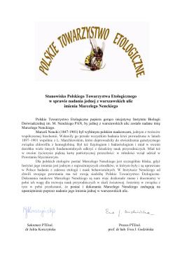 Stanowisko Polskiego Towarzystwa Etologicznego w sprawie