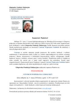 Głogowska Fundacja Edukacyjna - I Liceum Ogólnokształcącego w