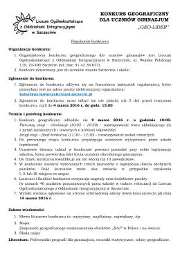 Regulamin - Liceum Ogólnokształcące z Oddziałami Integracyjnymi