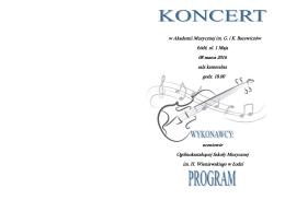 w Akademii Muzycznej im. G. i K. Bacewiczów Łódź, ul. 1 Maja 08