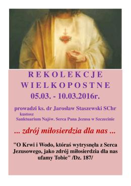 Rekolekcje Wielkopostne - plakat - 05.03.-10.03.2016 - Essen