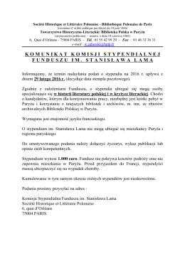 Stypendium im. Stanisława Lama