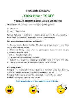 Regulamin konkursu - ZS 12 w Lublinie