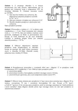 Zadanie 1. Z otwartego zbiornika I, w którym utrzymywany jest stały
