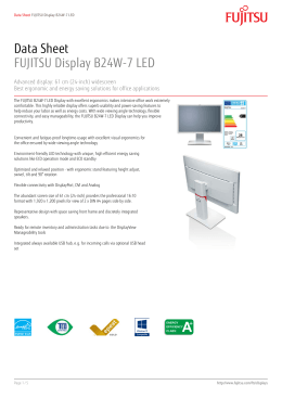 Data Sheet FUJITSU Display B24W
