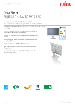 Data Sheet FUJITSU Display B22W