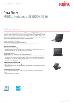 Data Sheet FUJITSU Notebook LIFEBOOK E556