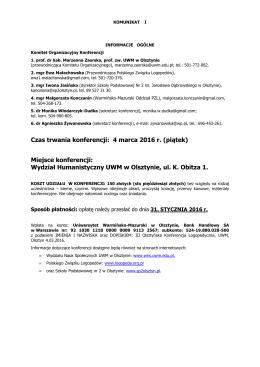 2016.03.04. Olsztyn konferencja komunikat 1