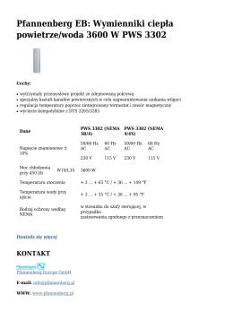 Wymienniki ciepła powietrze/woda 3600 W PWS