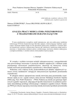 analiza pracy modulatora wektorowego z trajektoriami
