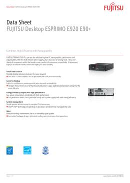 Data Sheet FUJITSU Desktop ESPRIMO E920 E90+