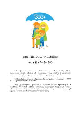 Infolinia LUW w Lublinie tel. (81) 74 24 240