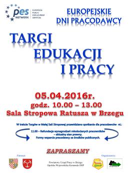 Plakat Targi Edukacji i Pracy 2016