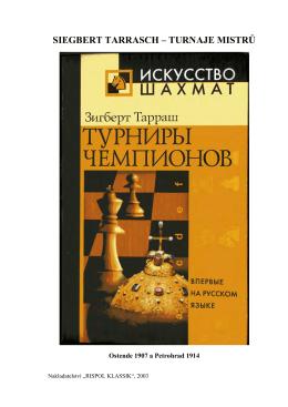 siegbert tarrasch – turnaje mistrů