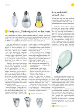 prudký rozvoj lED světelných zdrojů pro domácnosti