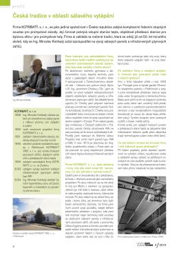 Profil firmy publikovaný v časopise TZB-HAUSTECHNIK