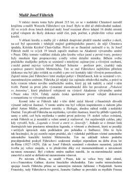 text přednášky o Josefu Führichovi