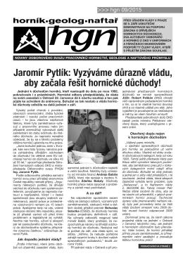 Jaromír Pytlík: Vyzýváme důrazně vládu, aby začala řešit hornické