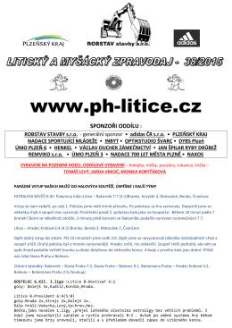 zpravodaj číslo 38/2015 z 8.XII. - TJ Plzeň