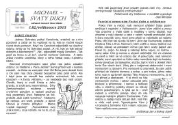 Michael - Svatý Duch č.82 - velikonoce 2015
