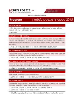Program / měsíc poezie listopad 2015