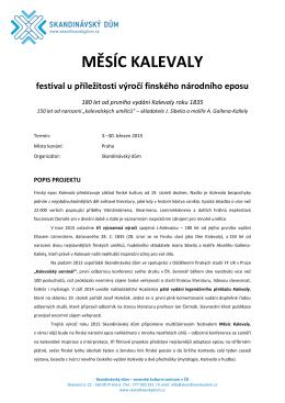 MĚSÍC KALEVALY - Oddělení finských studií