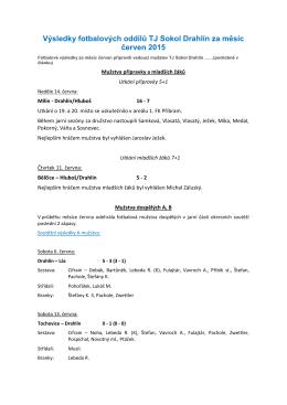 Výsledky fotbalových oddílů TJ Sokol Drahlín za měsíc březen 2015