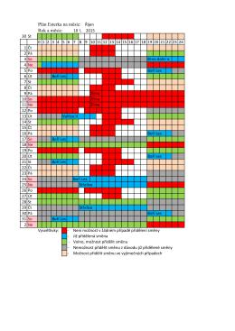 Plán Esterka na měsíc: Rok a měsíc: