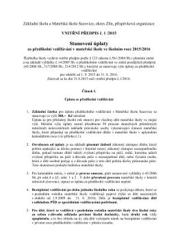 Úplata v MŠ 2015-2016 - Základní škola a mateřská škola Sazovice