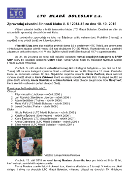 zpravodaj 2015-6 - Tenisový klub LTC Mladá Boleslav